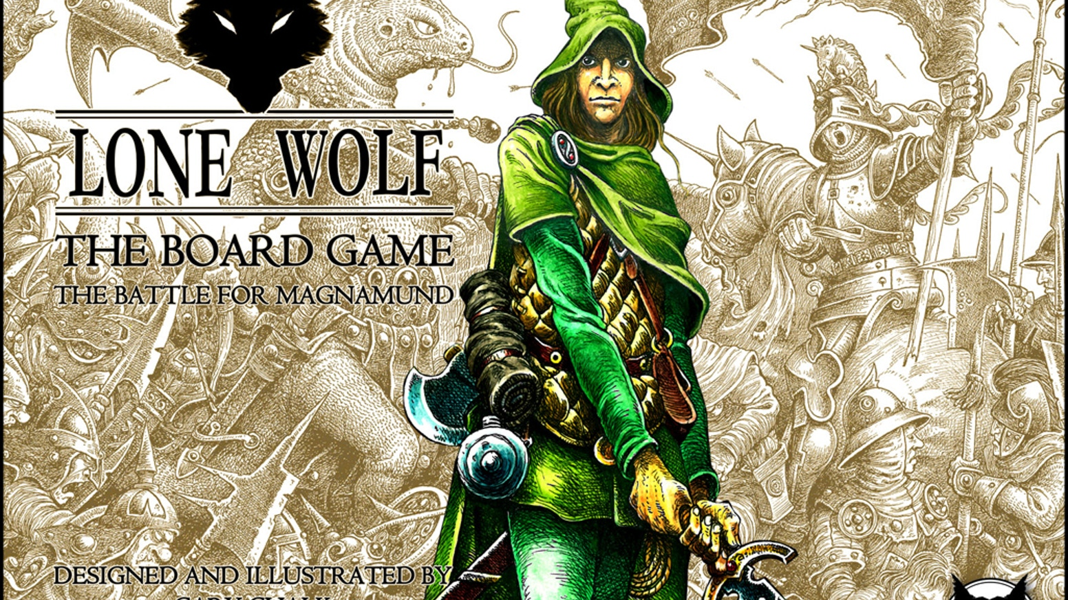The Lone Wolf fantasy gamebooks raised a generation of gamers.  After 30 years on his shelf, Gary Chalk has a surprise for us.
