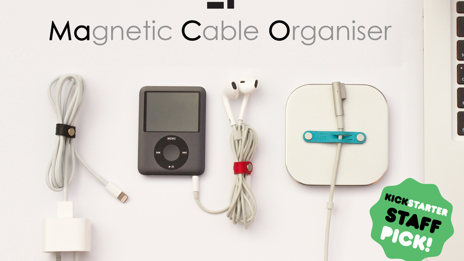 Keep your cables neat, organised and tangle-free. Attach MaCO to wall or on desk to keep cords from falling.