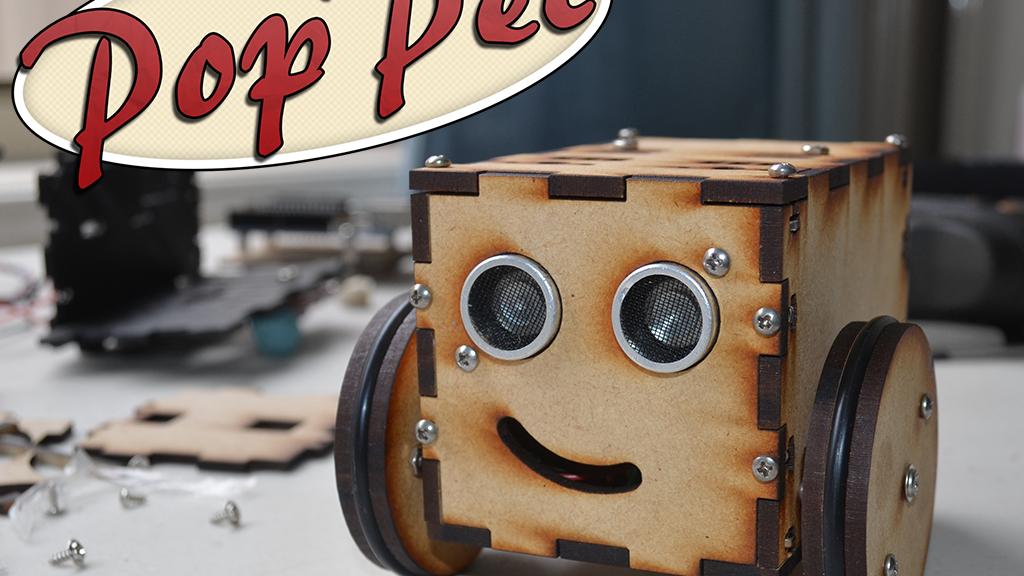 PopPet: DIY, Arduino Compatible, Open Hardware, Robot Kit project video thumbnail