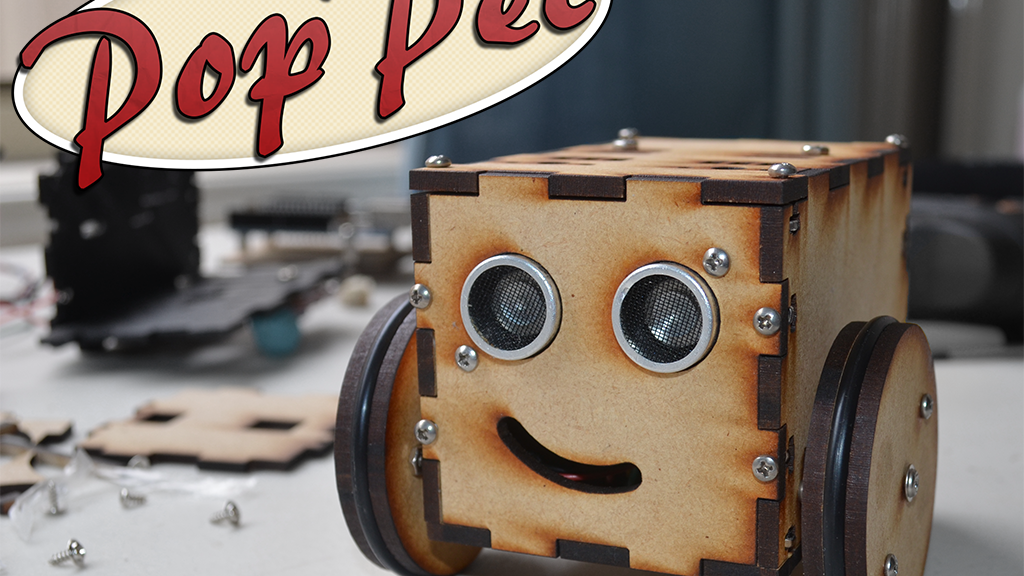 PopPet: DIY, Arduino Compatible, Open Hardware, Robot Kit project video thumbnail