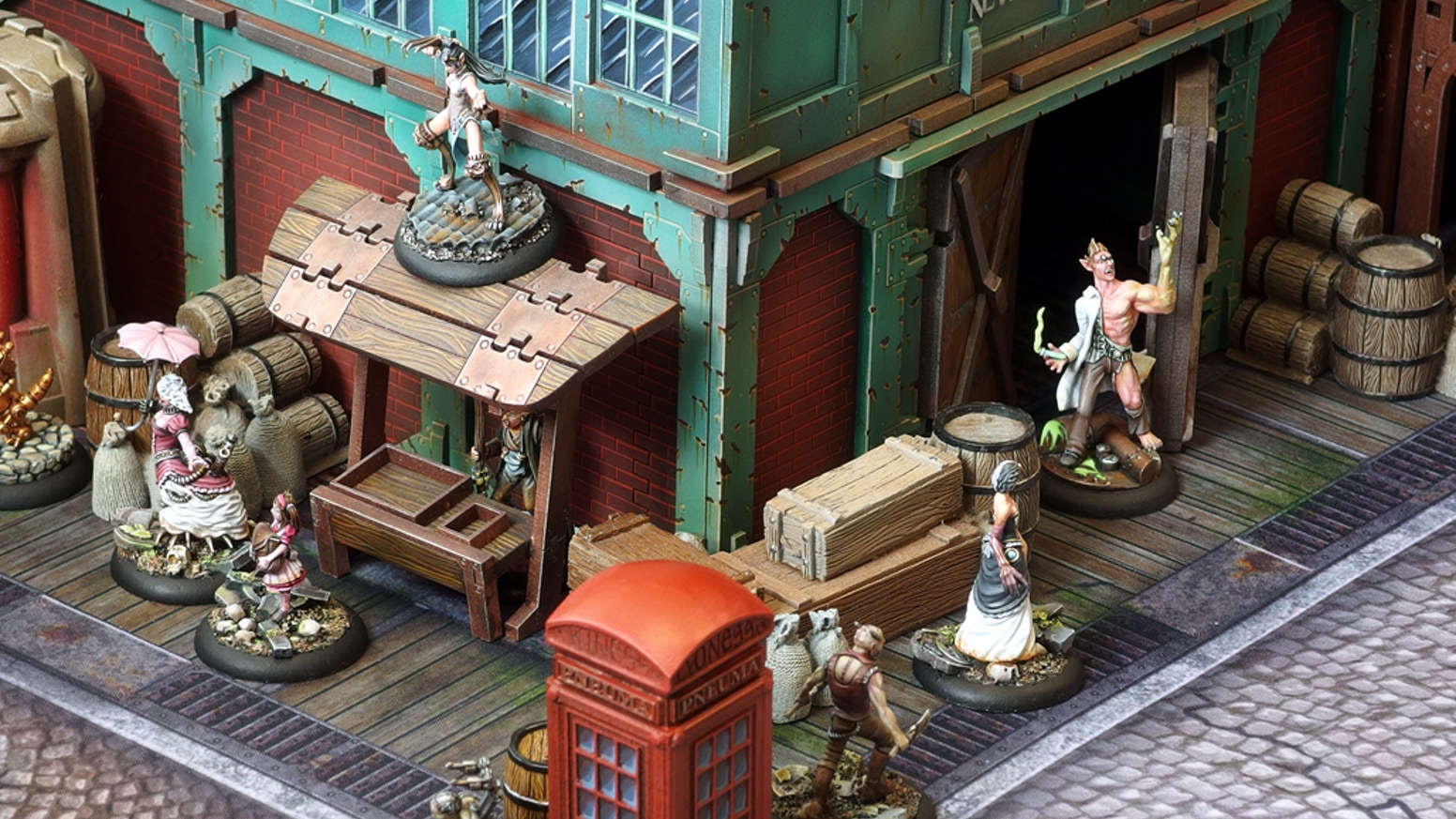 A 28mm miniature skirmish game set in the Fantastic 19th Century! Beautiful models, great scenery and easy to learn rules! Multiplayer!