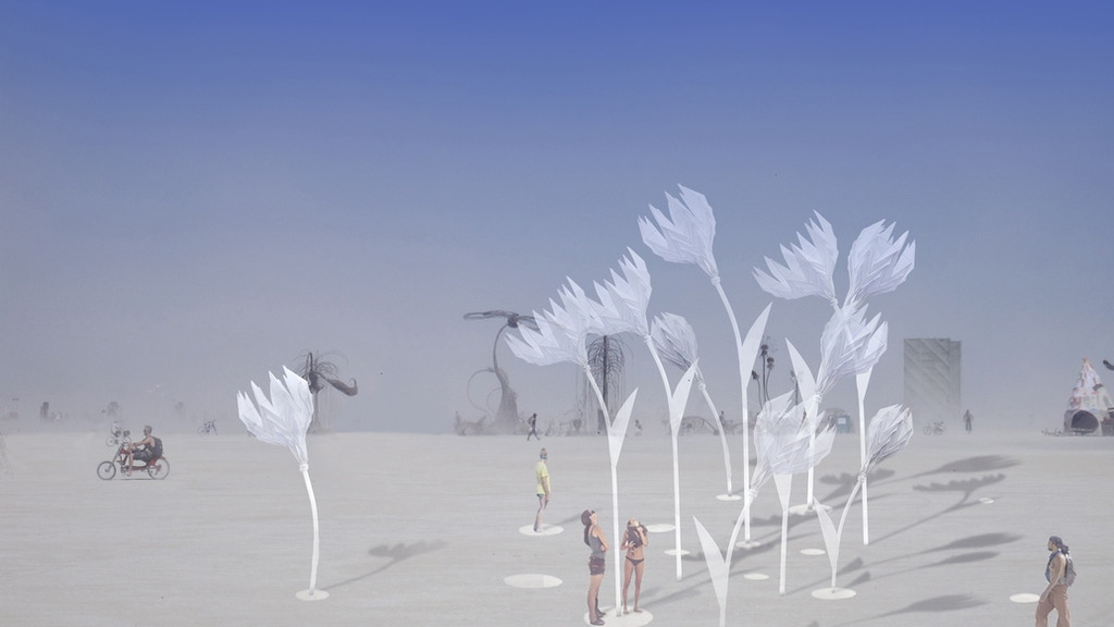 Blumen Lumen Interactive Sculpture at Burning Man and SF project video thumbnail