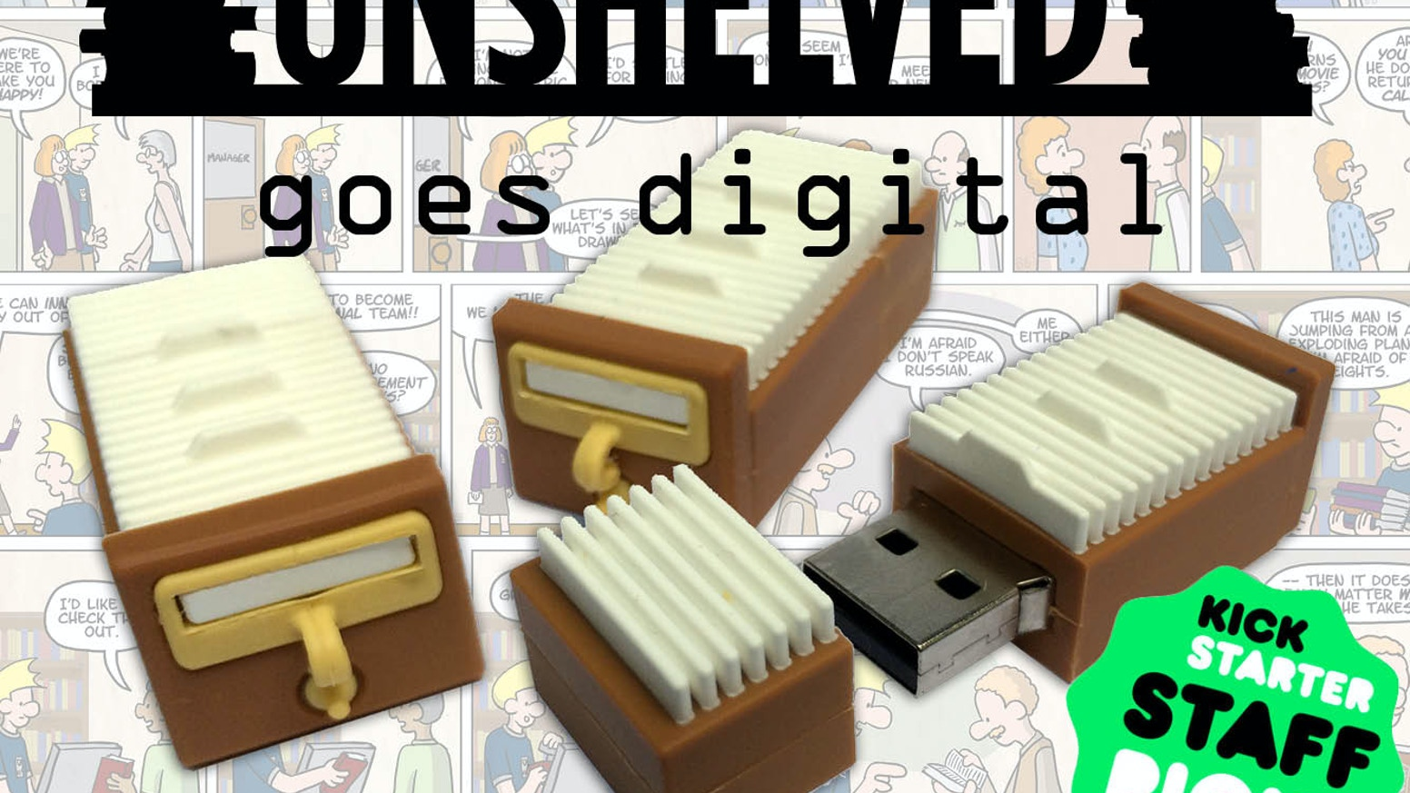 Own the most comprehensive Unshelved collection ever assembled, digitally remastered onto a USB drive shaped like a card catalog drawer