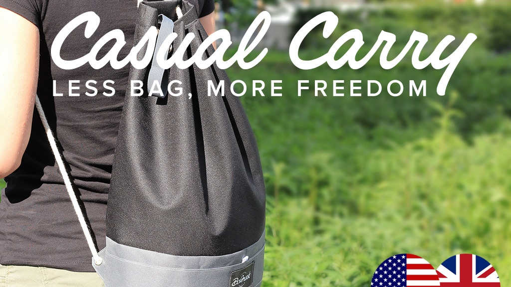 The Casual Carry - A whole new type of bag project video thumbnail