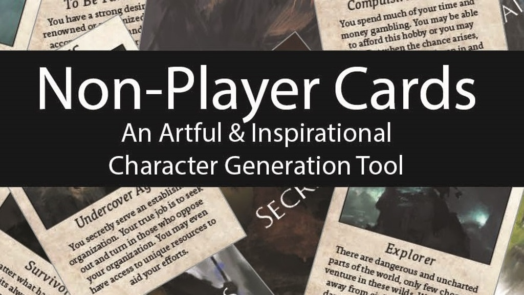 Non-Player Cards: An Artful & Inspirational Generation Tool project video thumbnail