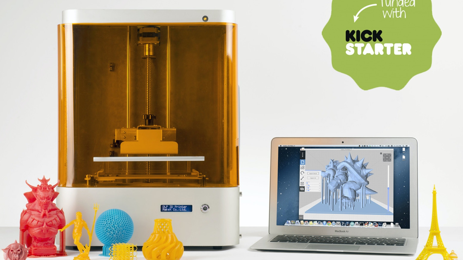 M-One: An opensource, professional desktop DLP 3D printer by MakeX