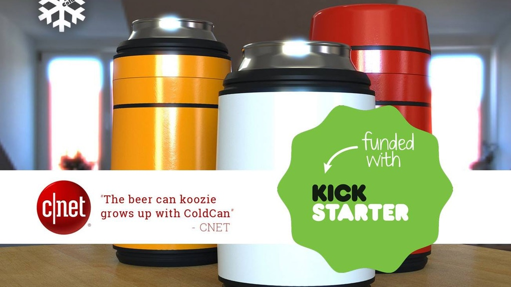 ColdCan® - Keeps Both 12 & 16 oz Drinks Super Cold w/Cryogel project video thumbnail