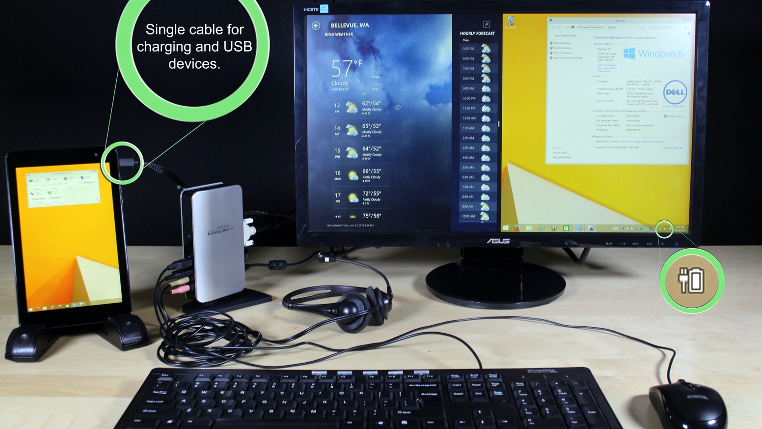 Thanks To Our Backers You Can Now Turn An Inexpensive Windows Tablet Into A Full Desktop