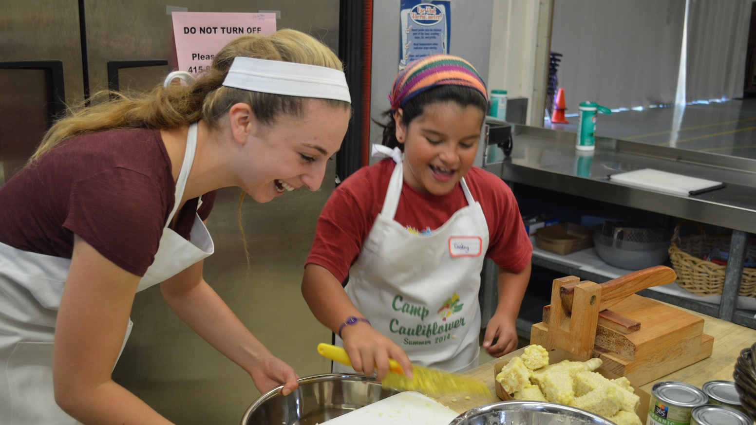 Camp Cauliflower is a hands-on cooking program where children learn the importance of eating healthy, nutritious and delicious foods.