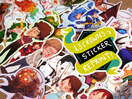A brief campaign to help 13crowns restock our stickers lowered sticker prices for backers