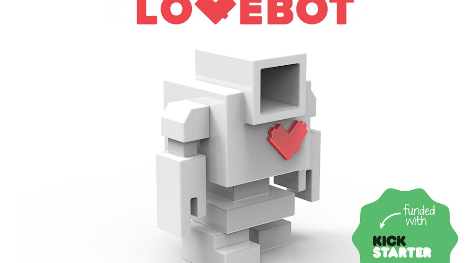 D.I.Y. Lovebot is a designer toy created by Matthew Del Degan x Mindzai