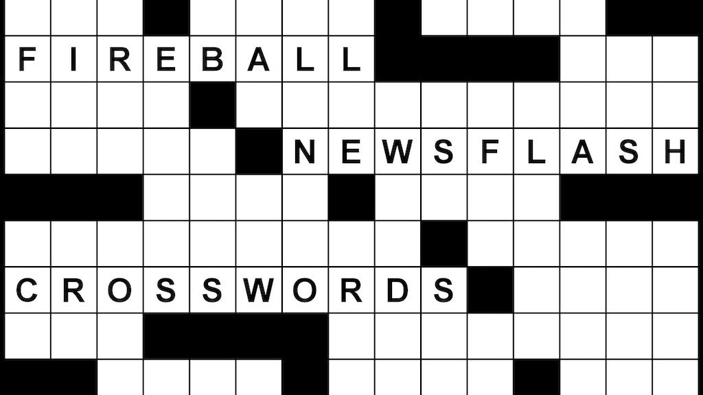 Fireball Newsflash Crosswords by Peter Gordon — Kickstarter