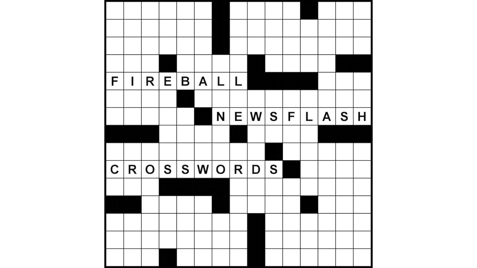 Fireball Newsflash Crosswords by Peter Gordon —Kickstarter