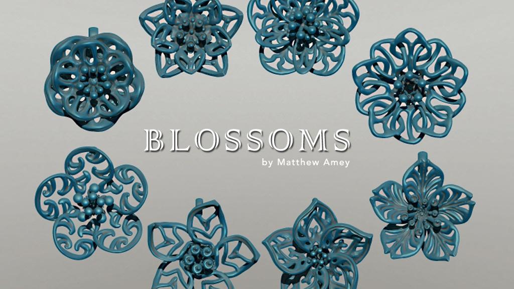 Blossoms - 3D printed metal pendants project video thumbnail