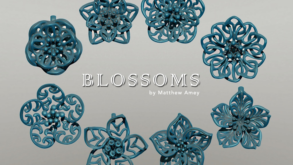 Blossoms - 3D printed metal pendants project video thumbnail