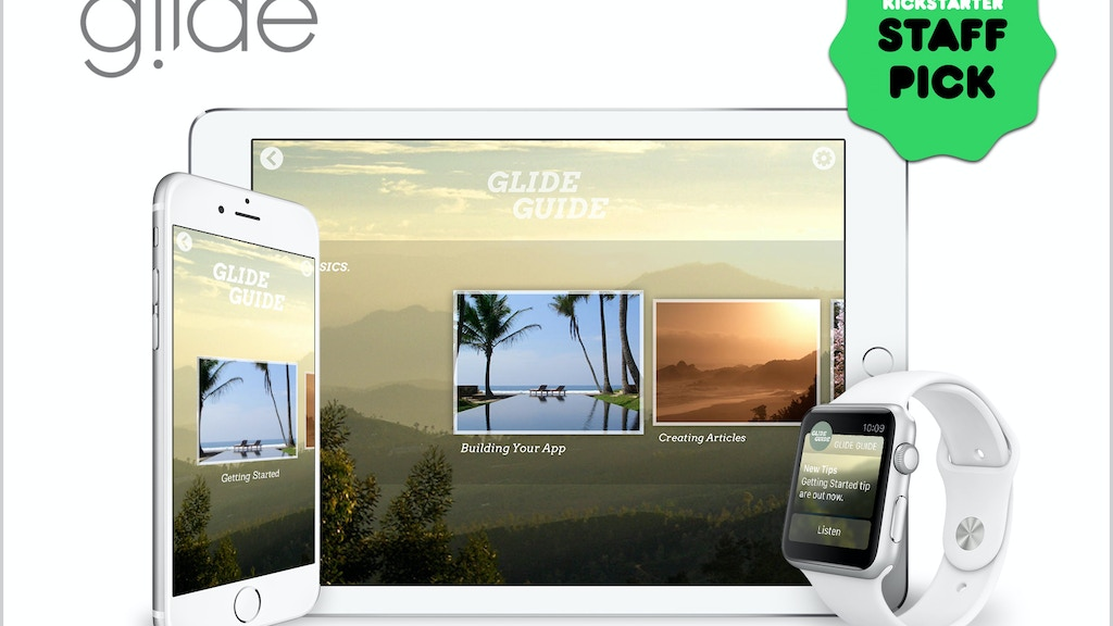 Glide - Beautifully Simple, Professional App Creation project video thumbnail