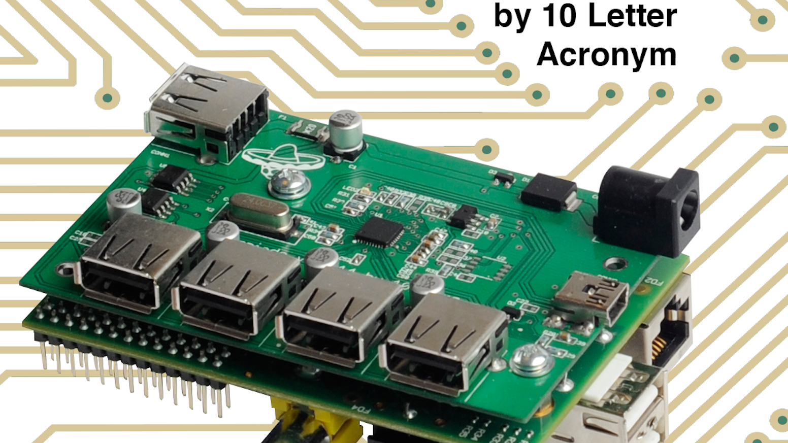 Power your Raspberry Pi, add USB ports, and look great doing it. A