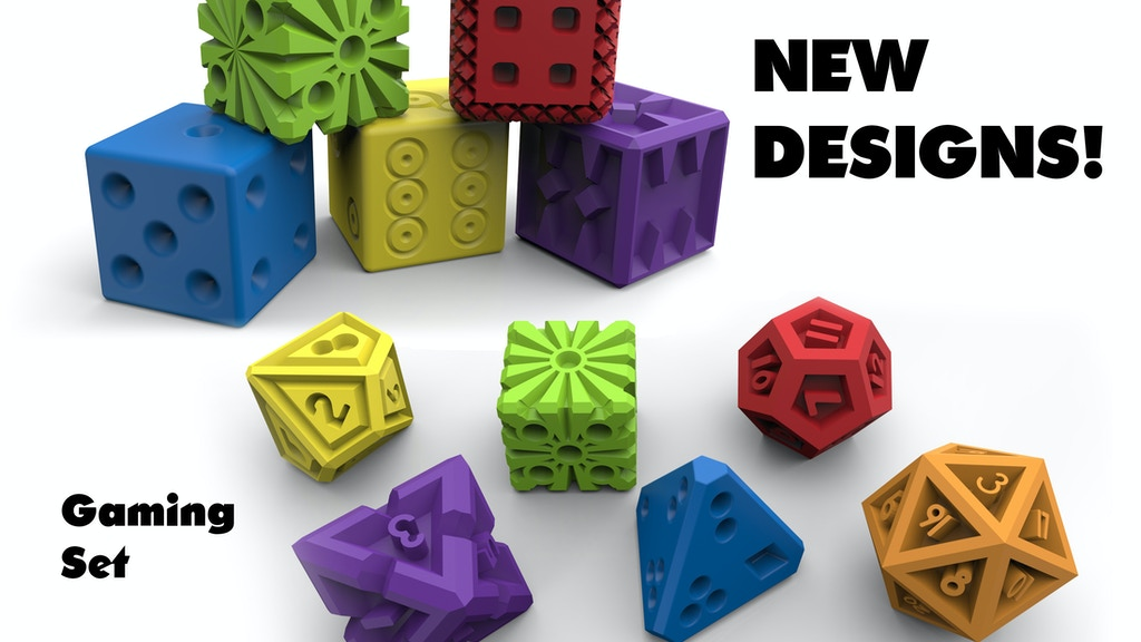 Project image for Pop Dice: 3D Printed Dice