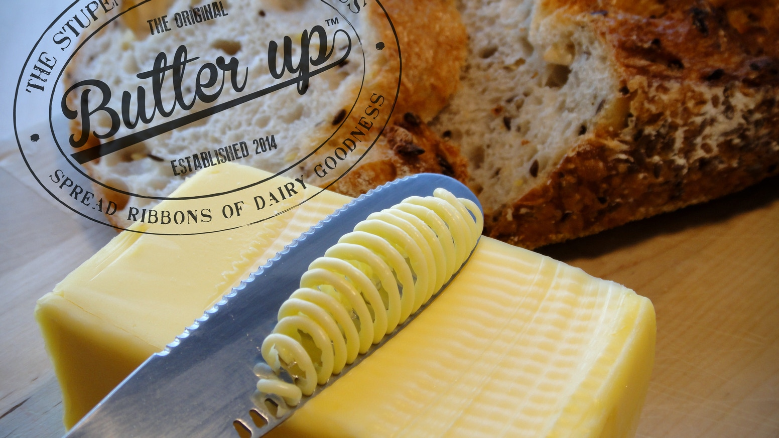 Enjoy real butter straight from the fridge. The ButterUp knife softens  butter in spectacular form!