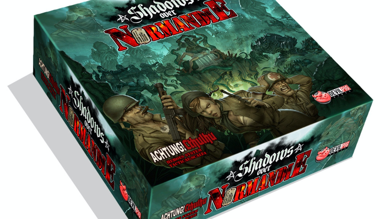 When Heroes of Normandie & Achtung! Cthulhu meet for a boardgame, it gives you Shadows over Normandie, a new epic tale of World War 2.
