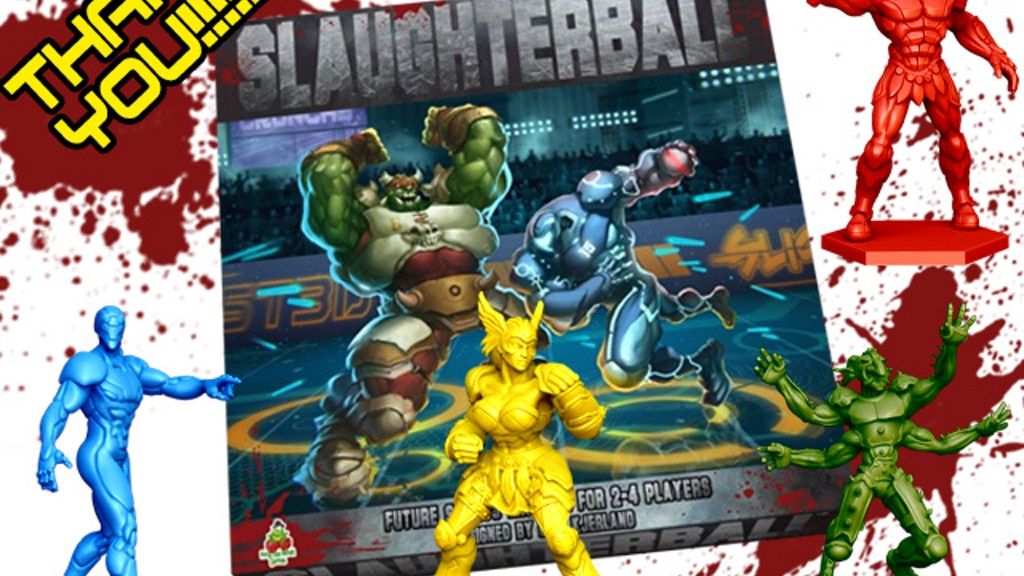 Slaughterball - Brutally Deluxe Sci-Fi Sports Board Game project video thumbnail