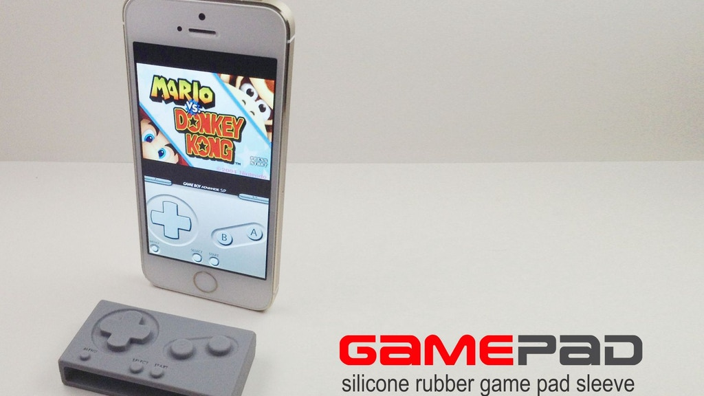 """Project image for iPhone GAME PAD silicone sleeve for the """"GBA4ios app""""."""