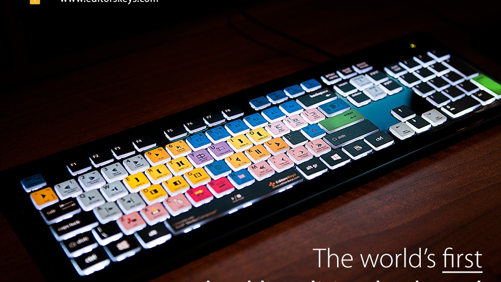 Backlit Shortcut Editing Keyboard - For all editors. project video thumbnail