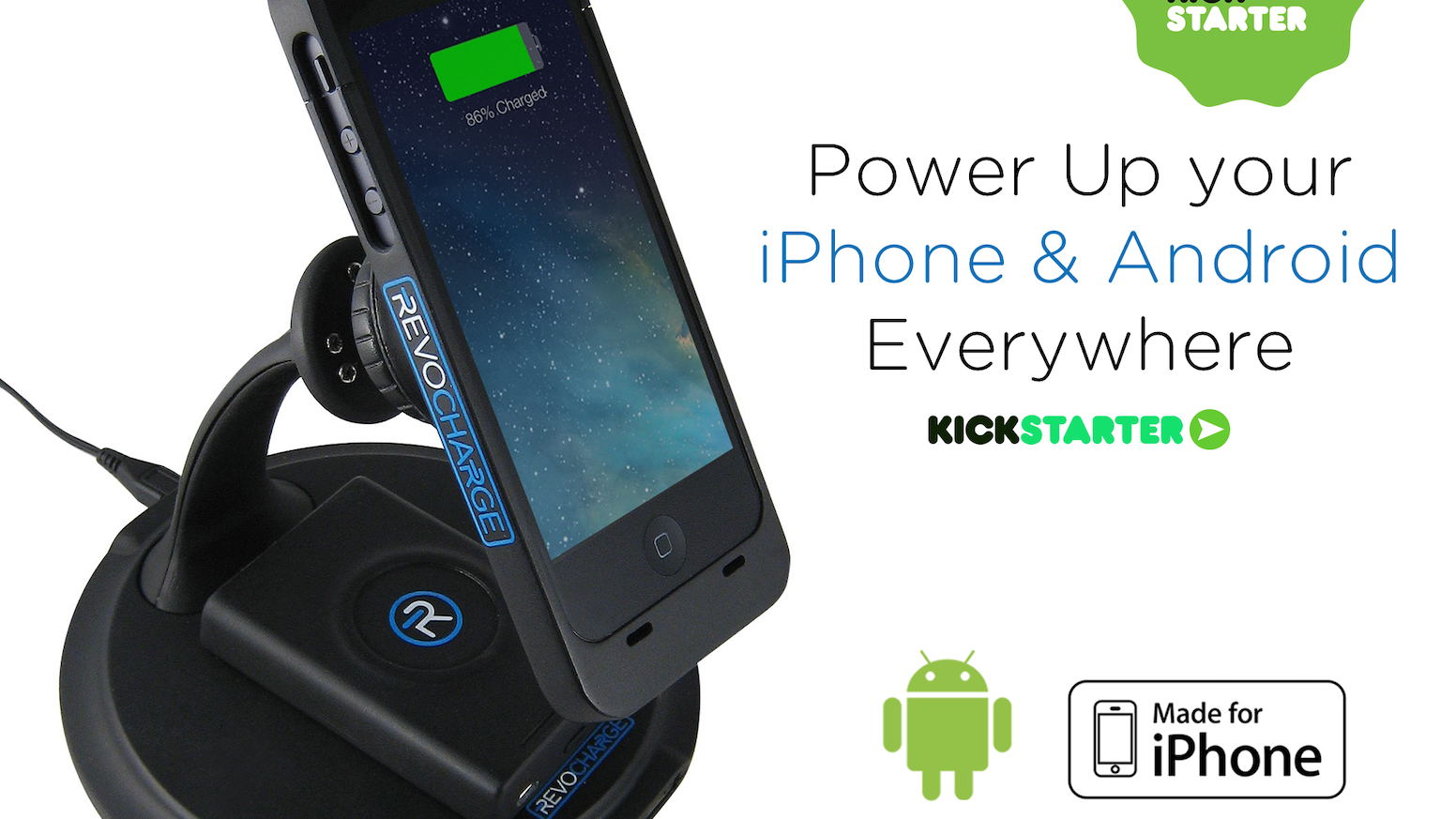 Revocharge is the smartest way to charge your iPhone and Android on the go. Snap on a magnetic battery Full power, everywhere, anytime.