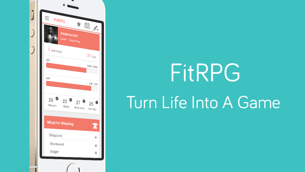 Project image for FitRPG: Gamifying fitness trackers (Fitbit) for iOS/Android