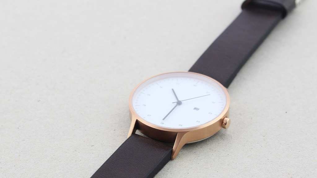 Instrmnt 01: A minimalist watch with a Swiss movement. project video thumbnail
