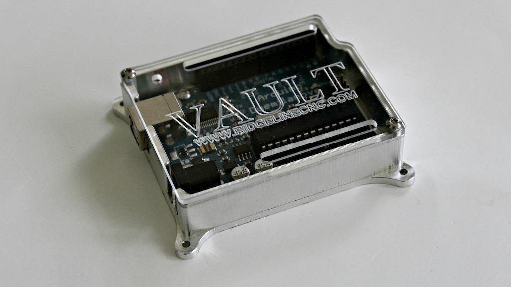 Project image for CNC Machined Aluminum Arduino Enclosure