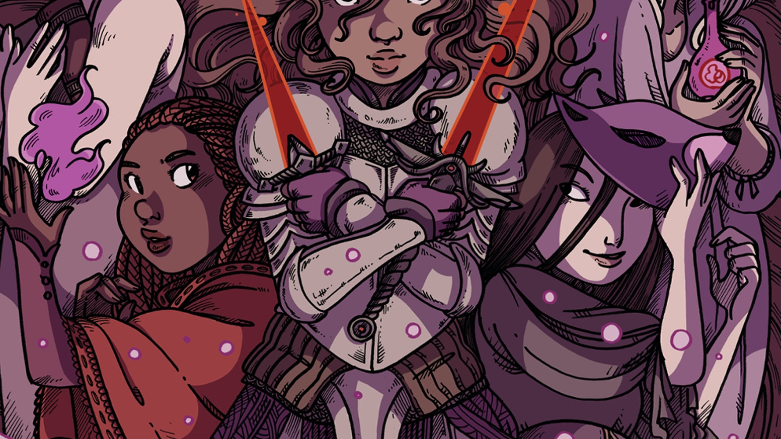 """Valor"" is a comic anthology that pays homage to the strength, resourcefulness, and cunning of female heroines in fairy tales."