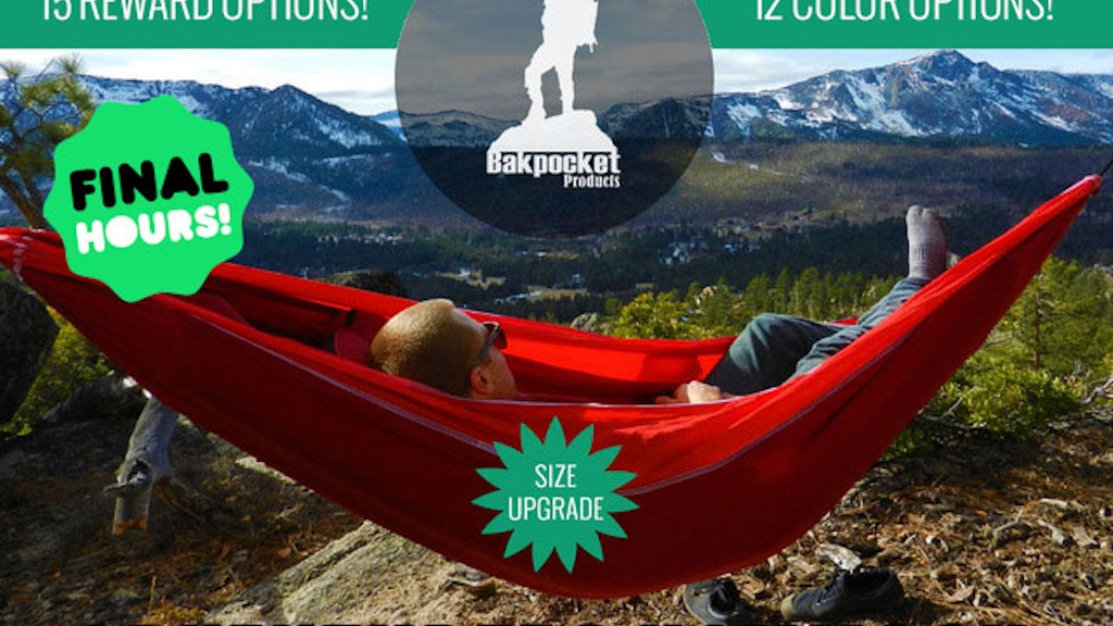 Adventurers Hammock - Use a Hammock, Lose the Tent project video thumbnail