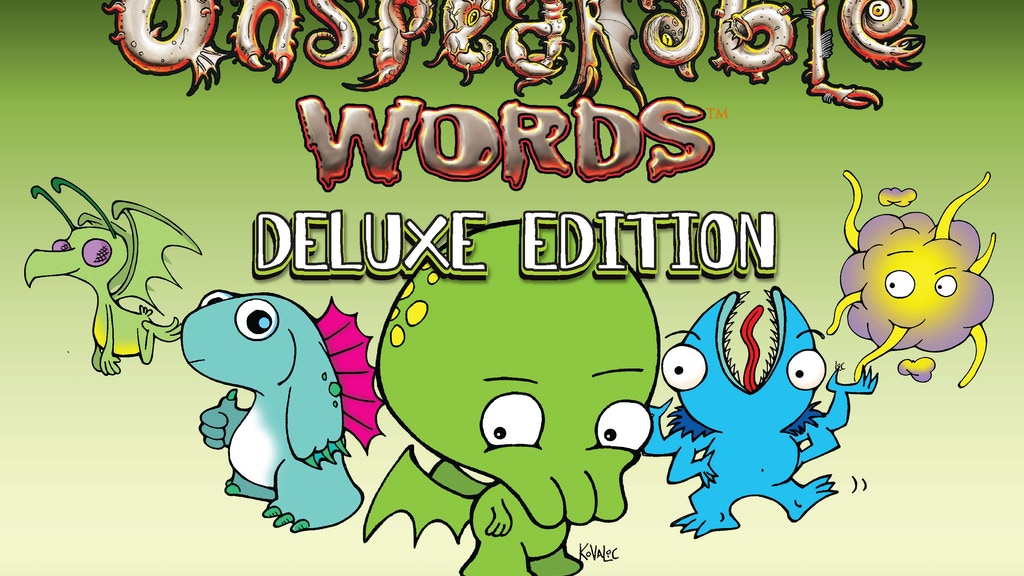 Unspeakable Words Deluxe Edition project video thumbnail