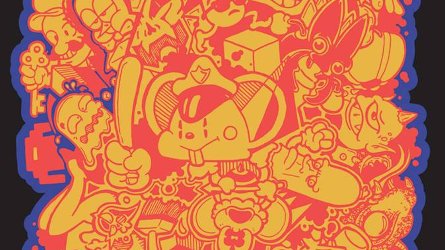 "A limited edition art tee featuring ""Arkado,"" a celebration of the classic video game arcade as drawn by Kyle Kubik."