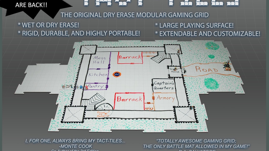 Tact-Tiles: Modular Wet and Dry Erase Gaming Surface project video thumbnail