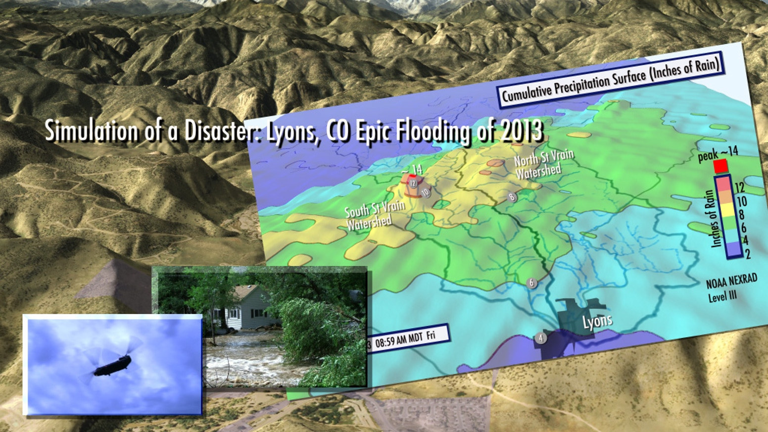 Simulation Of A Disaster Lyons Co Epic Flooding Of 2013 By Cat