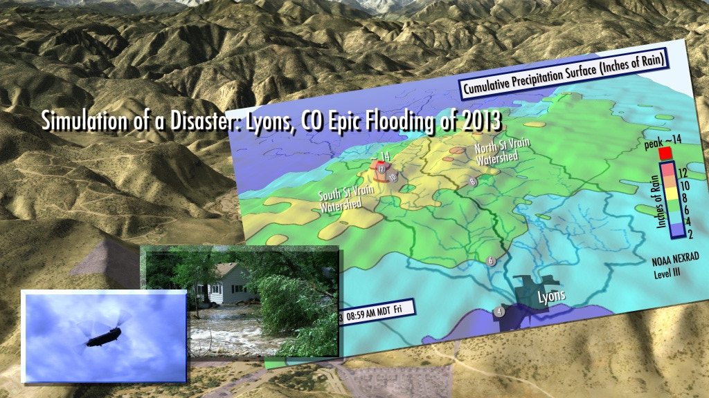 Simulation of a Disaster: Lyons, CO Epic Flooding of 2013 project video thumbnail