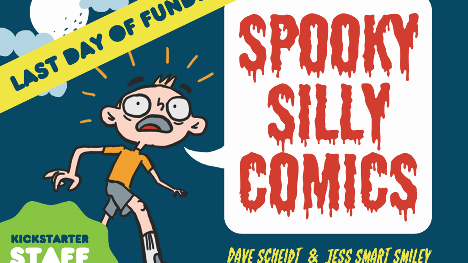 A haunted toilet! Vengeful ghosts! A garbage-eating werewolf! This is a spooky-silly collection of comics for the whole family.