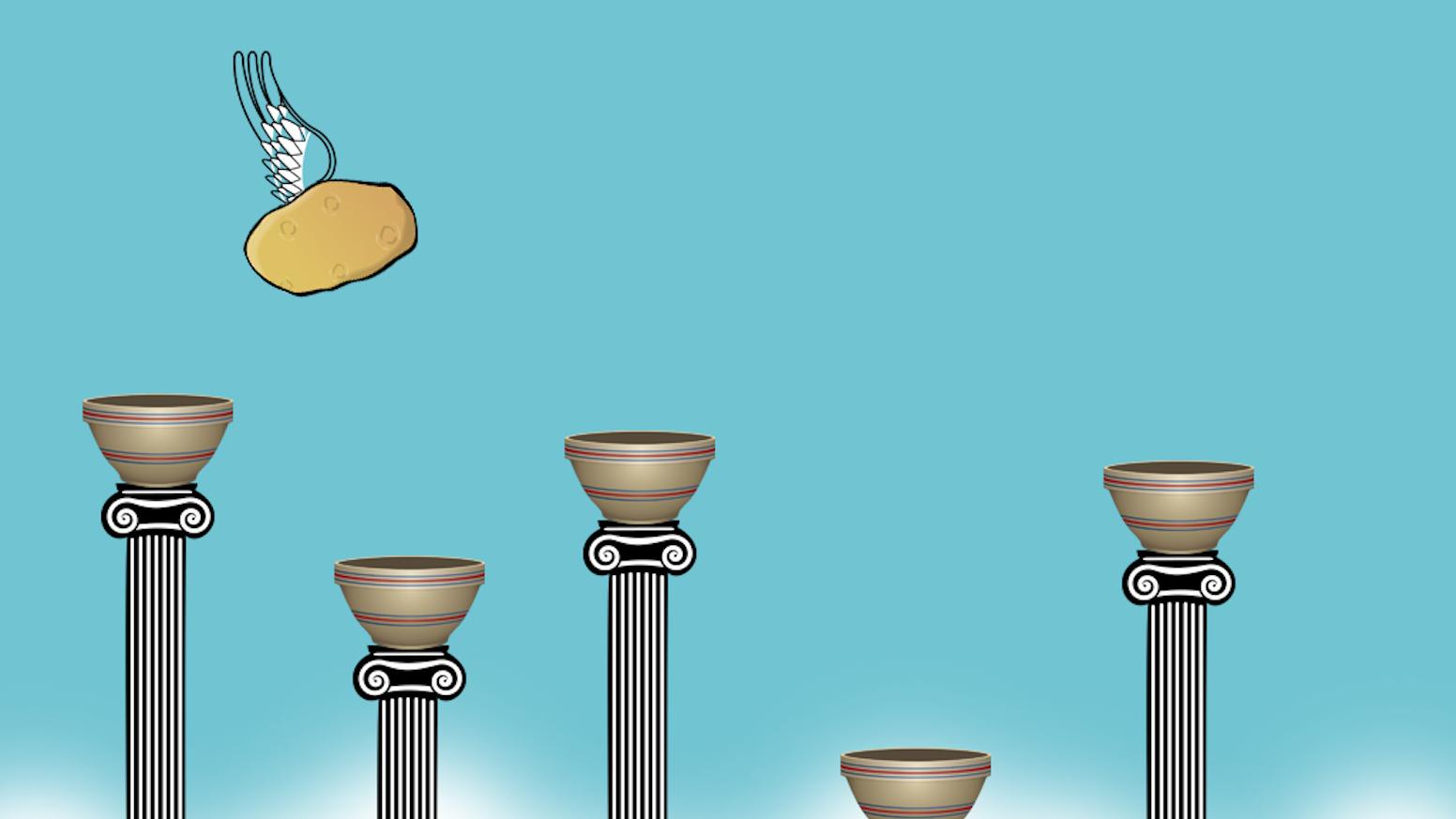 Potato Salad + Flappy Bird = Flappy Potato Salad.  A Flappy Bird-like game about making potato salad.