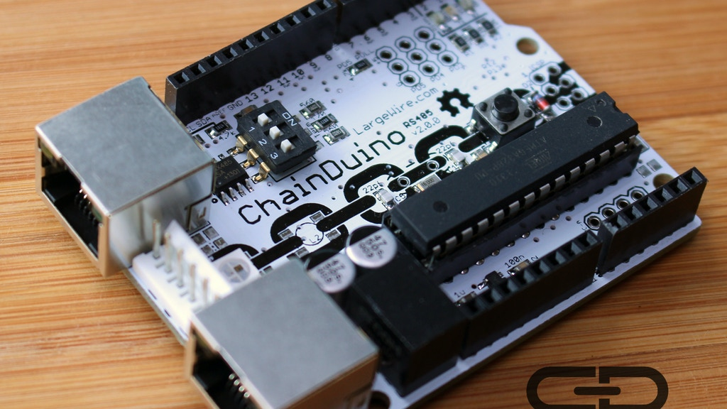 Have you ever wanted to connect lots of Arduino boards using just Cat5?  Now you can.  Arduino + PoE + RS485 = ChainDuino