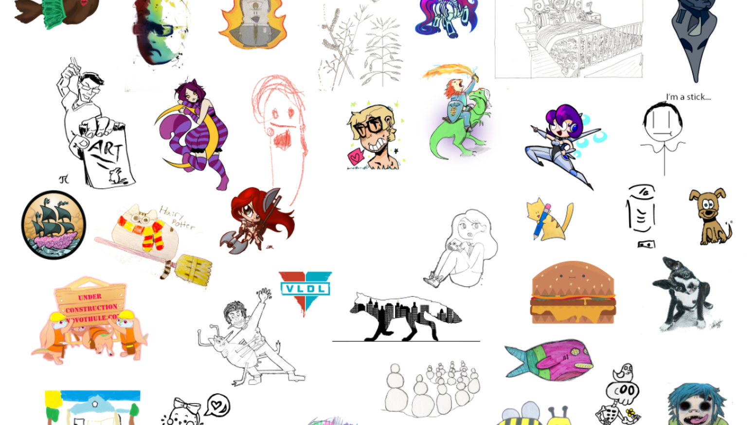 Add your art to a collaborative drawing for $1!