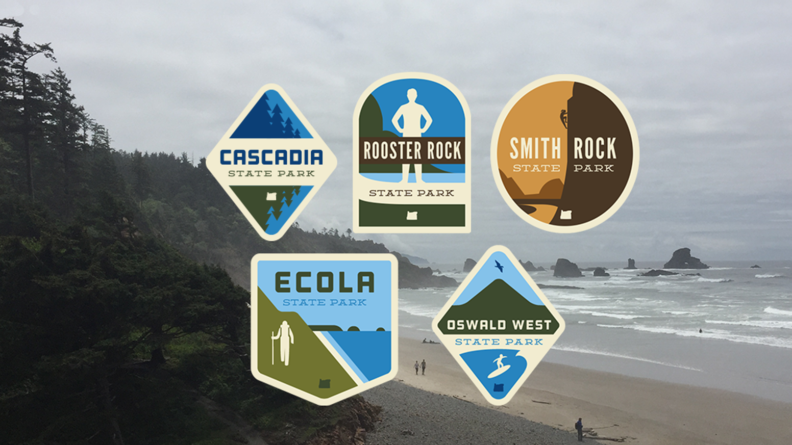 Patches and Stickers for Oregon's State Parks by Woody Adams