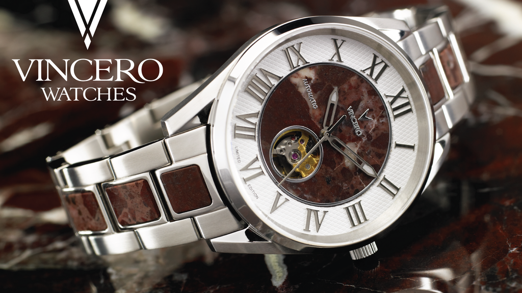 Vincero Mechanical Timepieces With Italian Marble By