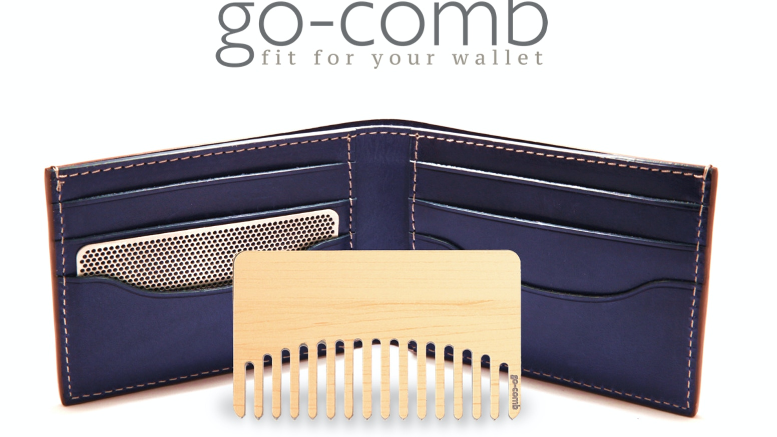 We're up and running! go-comb: a hair comb, or mirror combo, that fits right in your wallet. Styles for women and men, great for gifting.