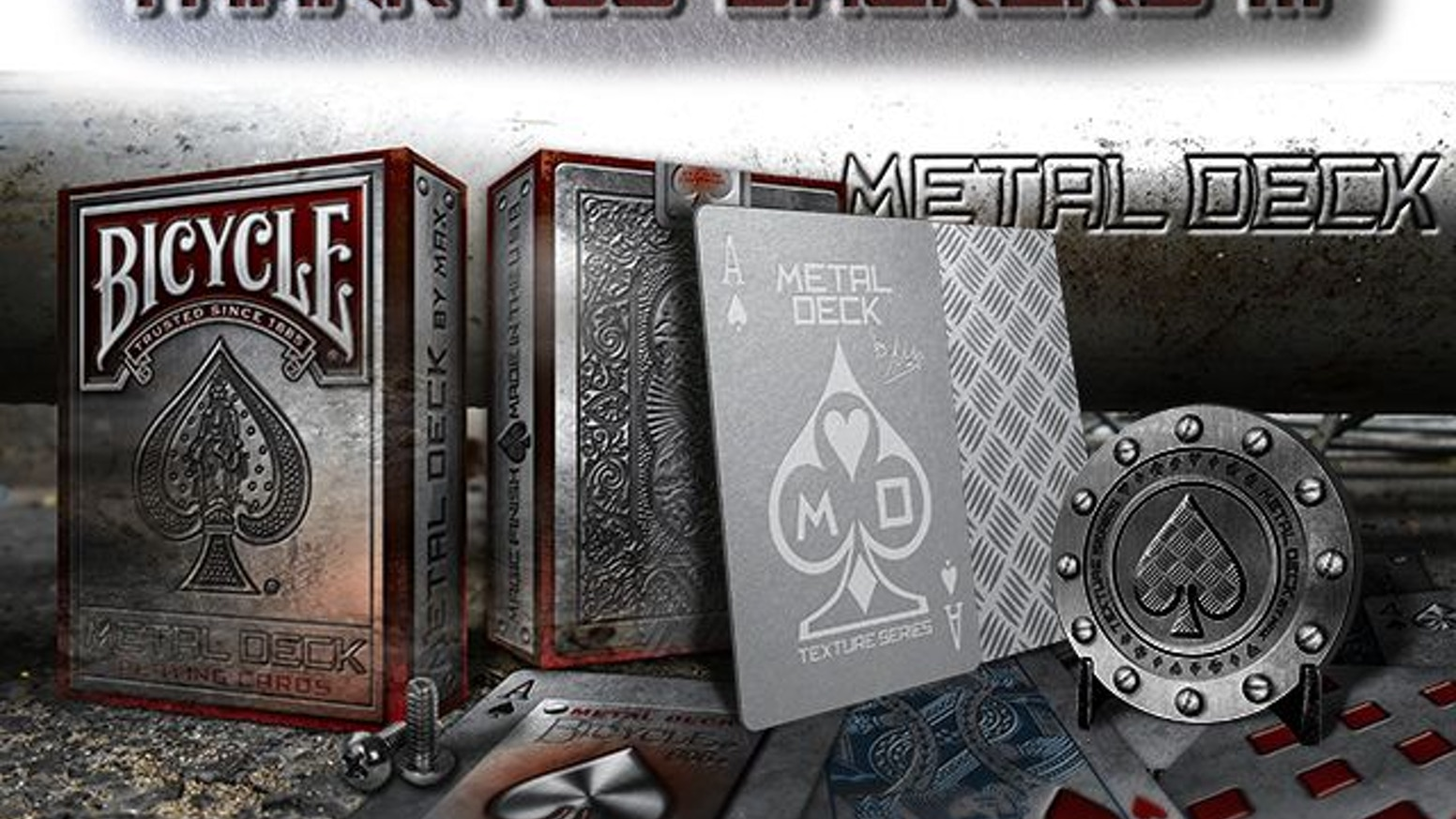 The METAL DECK is the very first deck on a series called TEXTURE SERIES by Max (Max Playing Cards)