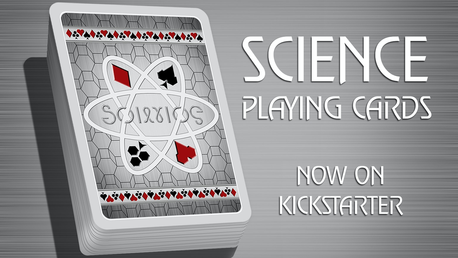 An epic deck like no other, The Science Deck will unleash your inner nerd with 56 fully customized original playing cards.
