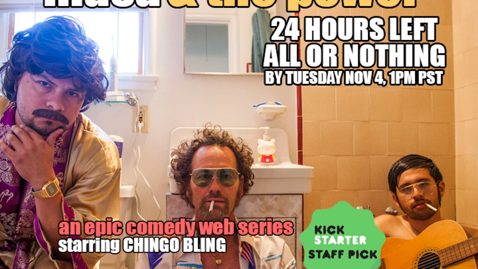 Blind ambition, luscious mustaches, and girthful tamales. Join CHINGO BLING & DESMADRE in making Season 2 of the hilarious web series.