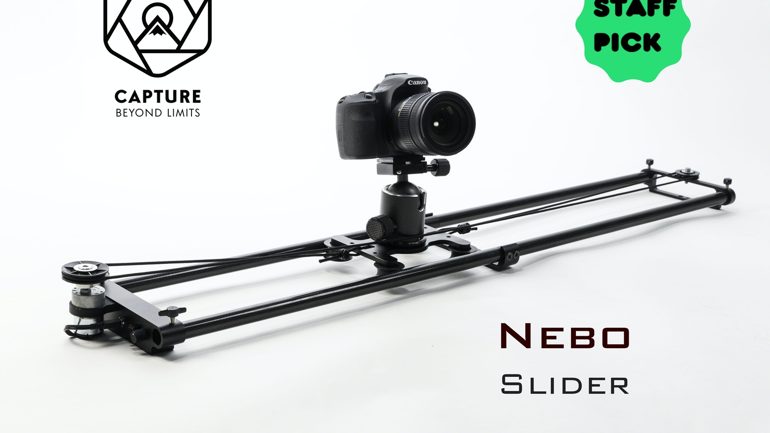 The world's most lightweight and portable motion controlled slider for video and timelapse photography. Now available through our website and ships within 2-5 business days.