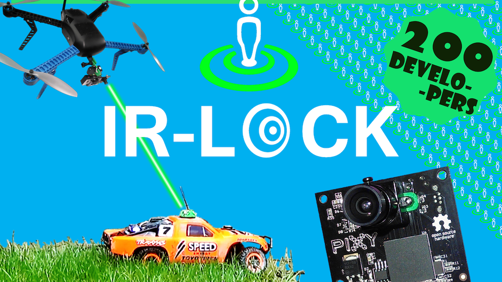 IR-LOCK: infrared target tracking for Drones & DIY Robotics project video thumbnail